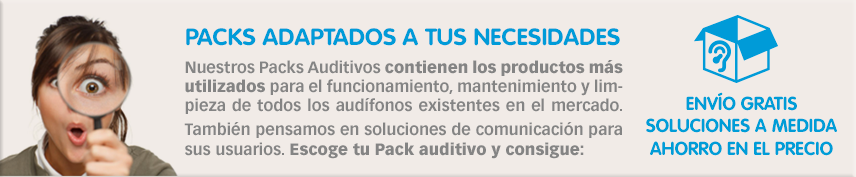 packs auditivos para usuarios audífonos
