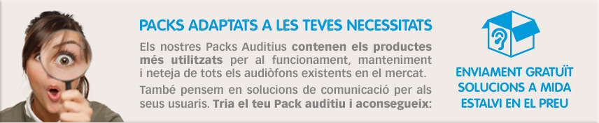 Packs auditius per a usuaris de audiòfons