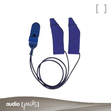Protectors Ear Gear amb cordó per als seus audiòfons