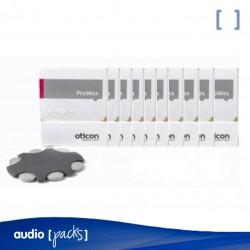 Pack 10 Filtros Oticon Prowax para audífonos