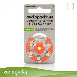 6 piles taronges per a audiòfons (13) Rayovac