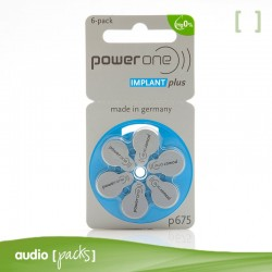 6 Pilas Implante coclear Powerone - Audiopacks, Barcelona