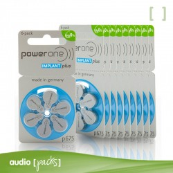 60 pilas Implante coclear Powerone - Audiopacks, Barcelona