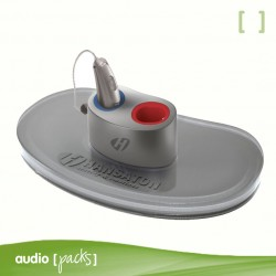 Mini carregador Hansaton per audiòfons recargables - Audiopacks, Barcelona