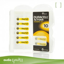 6 piles audiòfons grogues (10) Duracell