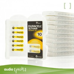 60 piles audiòfons grogues (10) Duracell