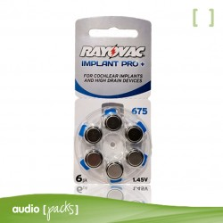 6 Piles Implant coclear Rayovac