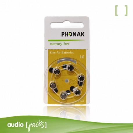 6 pilas Phonak amarillas para audífonos (10)