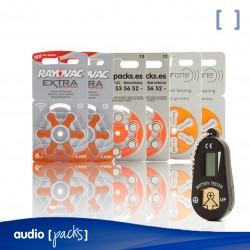 Pack Prova piles taronges (13) per a audiòfons - Audiopacks, Barcelona