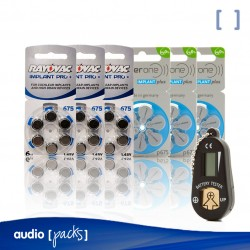 Pack Prova piles per Implants Coclears - Audiopacks, Barcelona