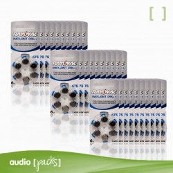 180 pilas Implante coclear Rayovac- Audiopacks, Barcelona
